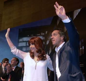 Cristina und Scioli 1