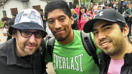 Drei Pilger: der Autor mit Cristian (M.) und Nedy