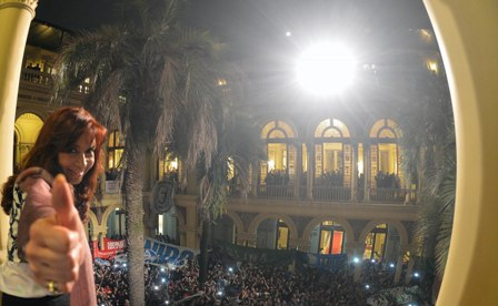 Kirchner in der Casa Rosada