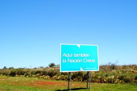 Werbetafel in der Provinz Misiones