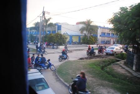 Clorinda, der argentinische Grenzort, am Abend