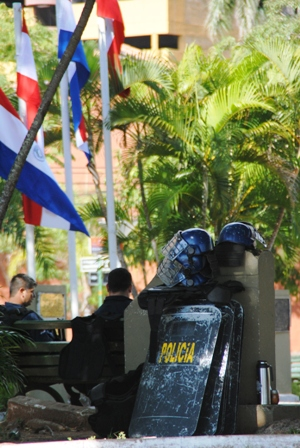 Polizistenverschnaufpause