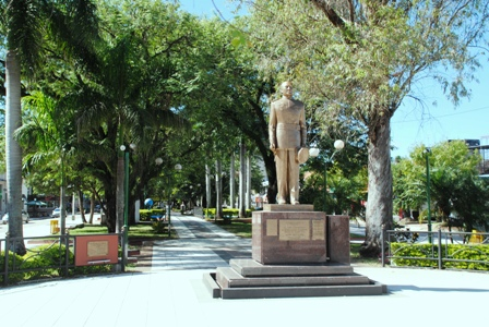 Perón-Statue in Formosa