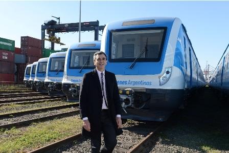 Transportminister Florencio Randazzo, der Herr der neuen, in China hergestellten Züge