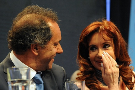 Daniel Scioli und Cristina Kirchner Foto: Casa Rosada