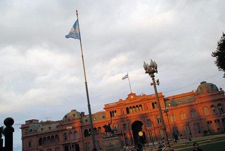 Casa Rosada, der Präsidentenpalast auf der Plaza de Mayo